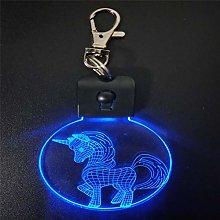 Only 1 Piece Unicorn Keychain Shape 3D Acrylic