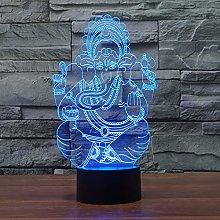 Only 1 Piece USB Led 3D Desk Lamp Lantern Colorful