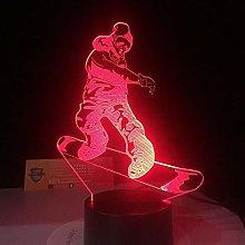 Only 1 Snowboarding Modelling 3D Visual NightLight