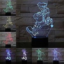 Only 1 Sora Figure 3D LED Night Light Multi Color