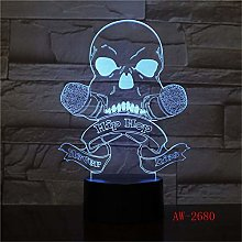 Only 1 USB LED 3D Visual Night Light Baby Bedside