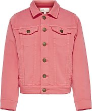 ONLY Kids Coral Denim Jacket - 12 years