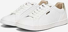 ONLY White Gold Detail Sneaker - 5