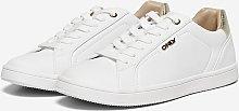 ONLY White Gold Detail Sneaker - 6