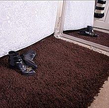Ontario Brown Bedside Bedroom Floor Shaggy Shag