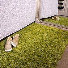 Ontario Fern Green Bedside Bedroom Floor Shaggy