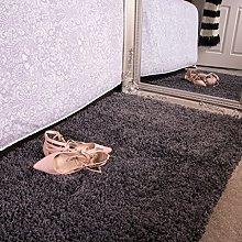 Ontario Grey Bedside Bedroom Floor Shaggy Shag