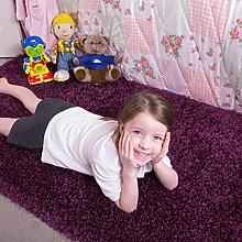 Ontario Plum Purple Bedside Bedroom Floor Shaggy