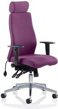 Onyx Headrest Office Chair In Tansy Purple With