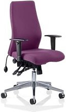 Onyx Office Chair In Tansy Purple With Arms