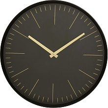 Onyx Wall clock black and gold