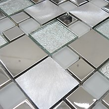 Onyx White Mosaic Tiles Sheet for Walls, Floors,