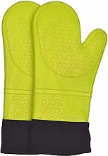 OOFAYWFD Oven Gloves With Silicone Cotton Lining,