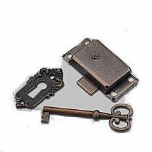 ooloflife Cabinet Lock Set with Key Antique 2
