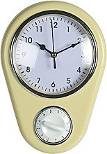 OOTB Kitchen Wall Clock Retro 50s Design with