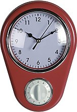 OOTB Kitchen Wall Clock Retro 50s Design with Timer