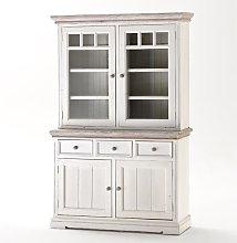 Opal Display Cabinet In Acacia White Wood