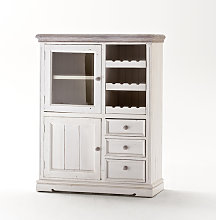 Opal Display Cabinet With Wine Rack And Glass