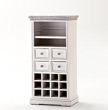 Opal Display Wine Cabinet With Wine Rack And Shelf