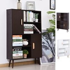Open Bookcase Shelves Unit Storage Cabinet Wooden