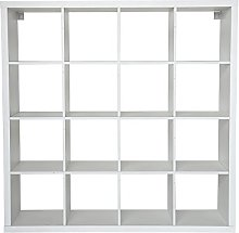 Open Bookshelf with 16 Cubes Storage Cabinet Unit