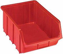 Open fronted storage bin made of polypropylene