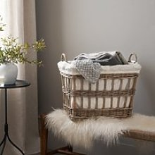 Open-Weave Kubu Storage Basket, Natural, One Size
