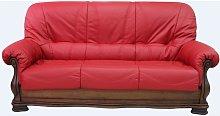 Oporto 3 Seater Italian Leather Sofa Settee