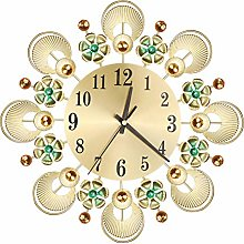 OPSLEA Large Vintage Wall Clock Flower Silent