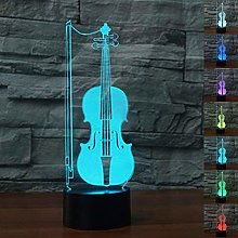 Optical Illusion 3D Cello Night Light 7 Colors