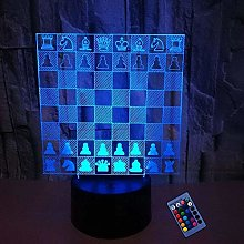 Optical Illusion 3D Chess Night Light 16 Colors
