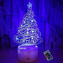 Optical Illusion 3D Christmas Tree Night Light 16