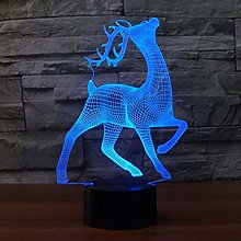 Optical Illusion 3D Deer Night Light 7 Colors