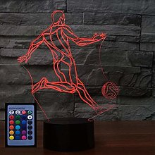 Optical Illusion 3D Football Night Light USB