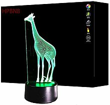 Optical Illusion 3D Giraffe Desk Lamp Novelty LED