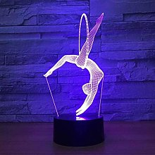 Optical Illusion 3D Gymnastics Night Light 7