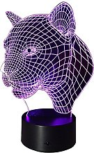 Optical Illusion 3D Leopard Lamp 7 Colour Changing