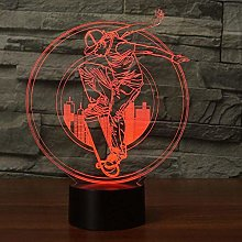 Optical Illusion 3D Skateboard Night Light 7