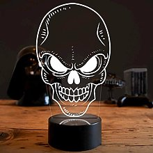 Optical Illusion 3D Skull Night Light 7 Colors