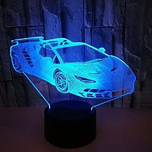 Optical Illusion 3D Sports Car Night Light 7