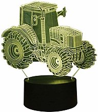 Optical Illusion 3D Tractor Night Light 7 Colors