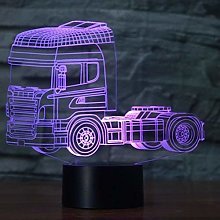 Optical Illusion 3D Truck Night Light USB Touch