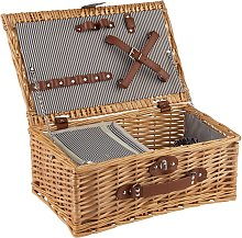 Optima Two Person Picnic Hamper Basket with Cooler