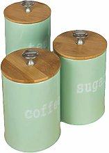 opxingch 3Pcs Elegant Coffee Sugar Tea Jar Spice
