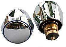 Oracstar Chrome Plated Metal Tap Tops - 1/2' -