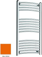Orange 1000mm x 300mm Curved 22mm Towel Rail -
