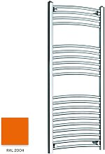 Orange 1200mm x 300mm Curved 22mm Towel Rail -