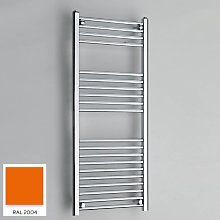 Orange 1200mm x 300mm Straight 22mm Towel Rail -