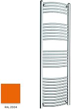 Orange 1600mm x 400mm Curved 22mm Towel Rail -
