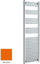 Orange 1800mm x 500mm Straight 22mm Towel Rail -